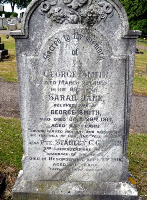 The Smith Family headstone