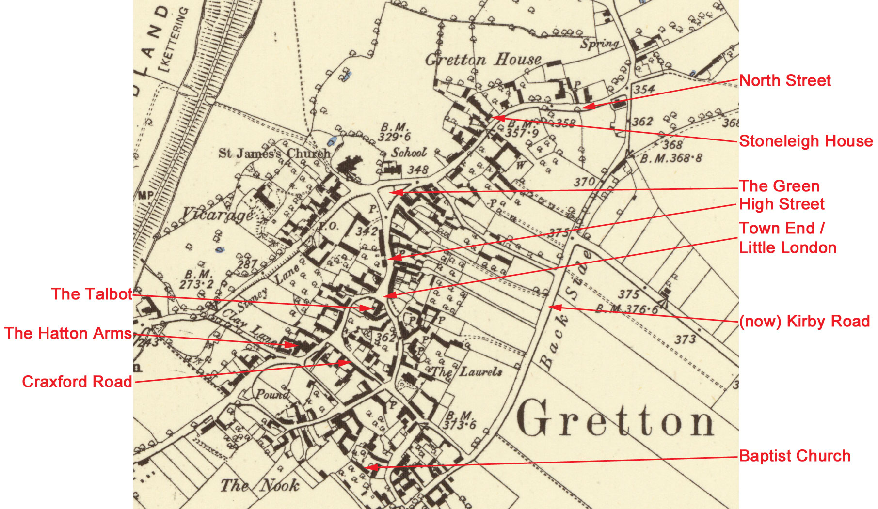 Gretton village