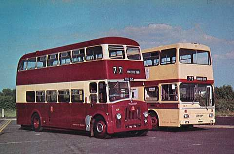 Leicester buses - old and alternative livery