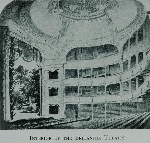 Interior of the Britannia Theatre Hoxton