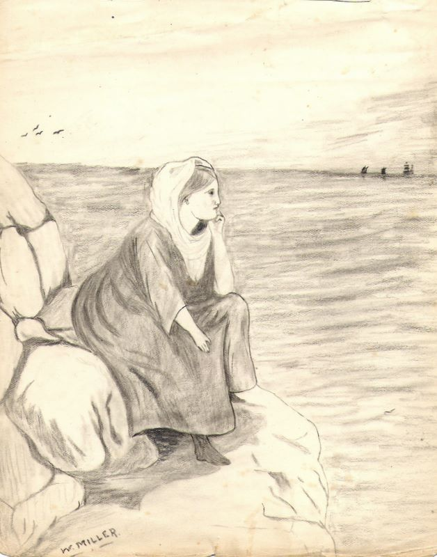 Untitled girl and seascape