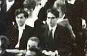 Awaiting graduation in Caird Hall 1969