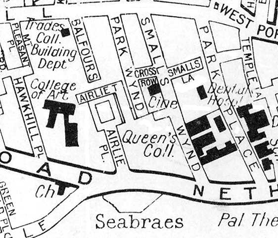 Map: Airlie Place about 1960
