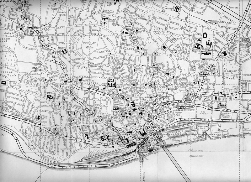 Map: Dundee about 1960