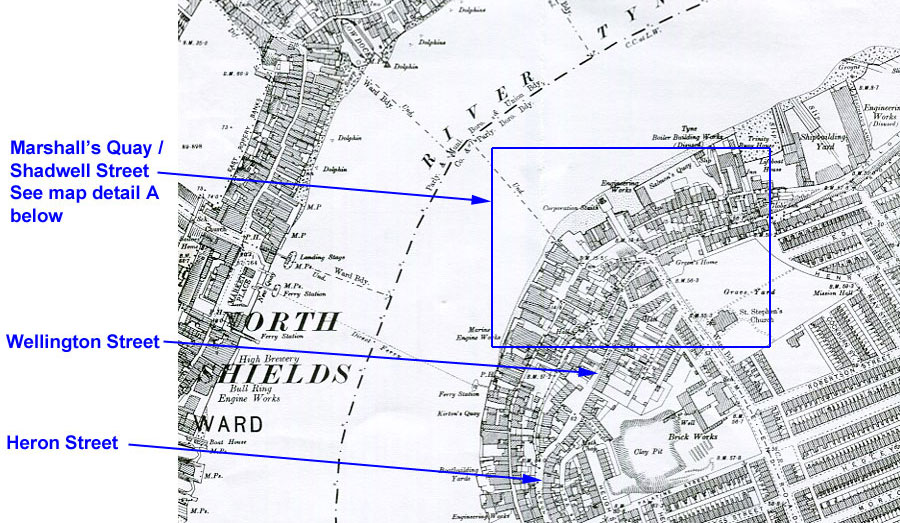 Mouth of Tyne Map1895
