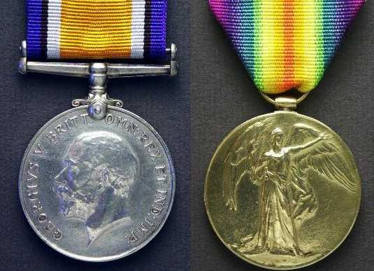 WW1 Victory medals