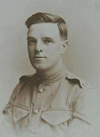 George Cook in uniform: Access the article