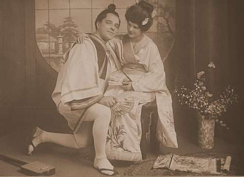 George Cook in The Mikado about 1920