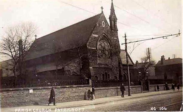 Old postcard view of Christ Church, Patricroft (1)