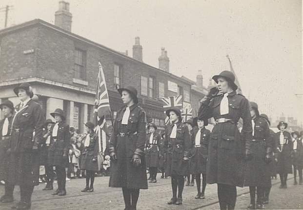 Guides in the Whit walk (about 1933)