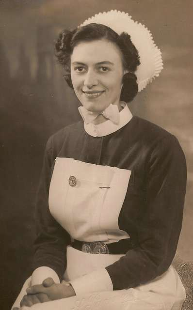 Winifred Eldridge (nee Curtis) in nurses uniform 1942