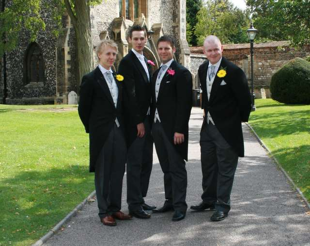 Rob's Best man and ushers